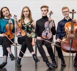 Hauhon Musiikkijuhlilla esiintyy ulkomailla palkittu nuorten muusikoiden Seele-kvartetti. Kuva: Hauhon Musiikkijuhlat