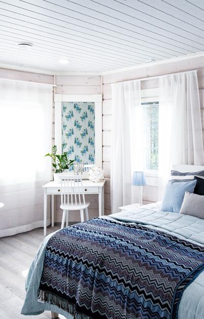 Makuuhuoneen valaistus kannattaa suunnitella levolliseksi. Kuva: Airam
