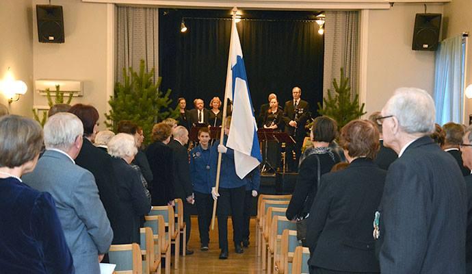 Lammin itsenäisyyspäivän juhla on lammilaisten yhdistysten yhteistyön tulos. Kuva: Susanna Mattila