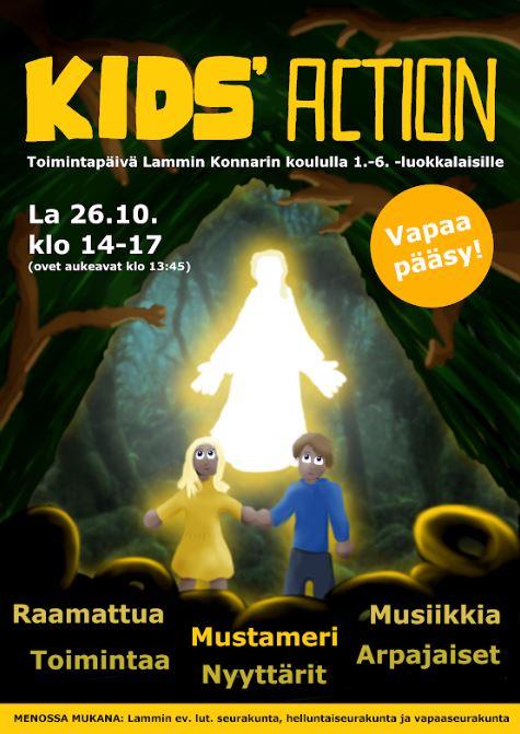 kid's action -juliste
