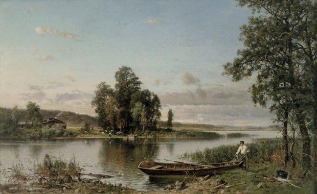 Hämäläinen maisema Munsterhjelmin maalaamana.
