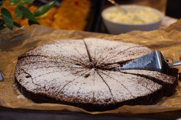 Bostonin suklaakakku oli jälkkäripöydän kuningas.