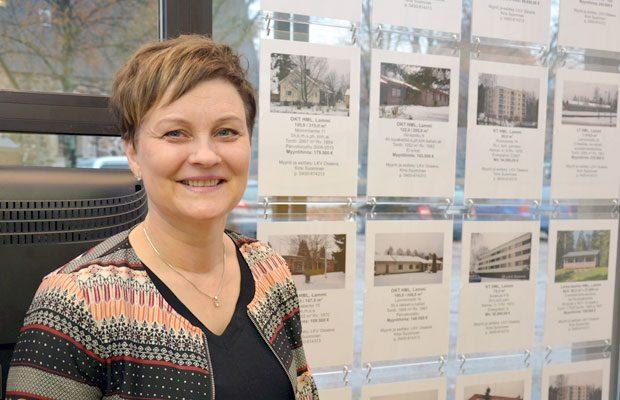 Parin vuoden hiljaiselon jälkeen asuntokauppa on tänä vuonna osoittanut piristymisen merkkejä, kertoo Kirsi Suominen. Kuva: Susanna Mattila