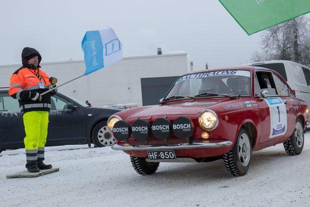 Markku Hannunen, HamUA ja Jasmin Hannunen, HRCF Fiat 850 Coupella.