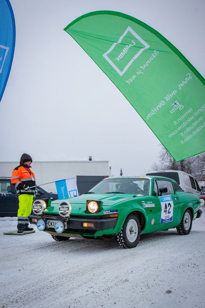 Lauri Lajunen, ALTI ja Virpi Matikainen, ALTI, Triumph TR7.