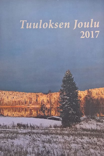 Tuuloksen Joulun kansiaihe on Antti Sipilän kuvaama maisema.