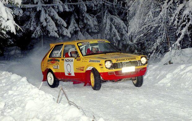 Kuva Lammilta vuodelta 1996, 0-autoa kuljetti Esa Peltonen, vuoden 2016 Historicin Euroopanmestari kategoriassa 3. Kuva:  Sportkuvat, Eero Auvinen